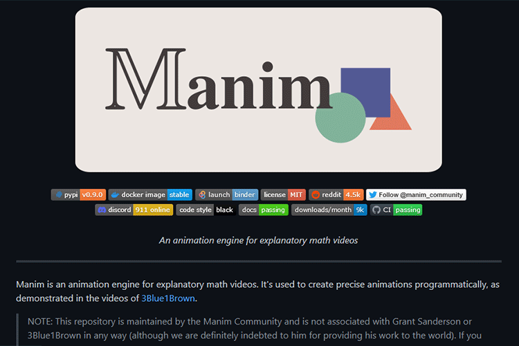 Example from Manim