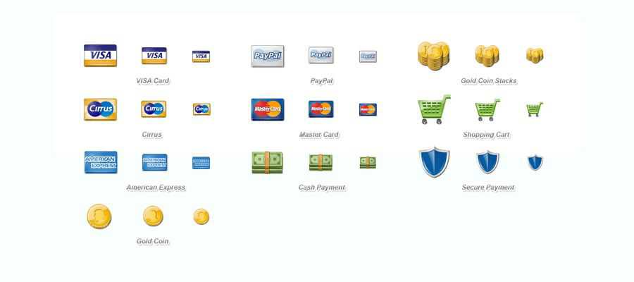 Free eCommerce Payment Icon Set png