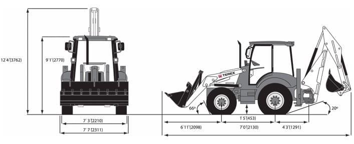Экскаватор Terex: 970, RM TLB 825, 860, 820, погрузчик