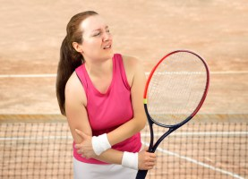 tennis player with elbow pain