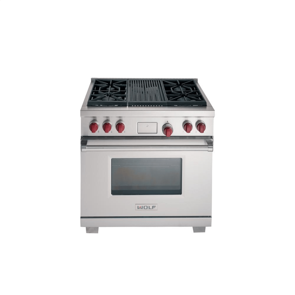 Cucina A Gas Wolf Wolf Ranges Dual Fuel Stainless Steel Lp Gas Df366lp