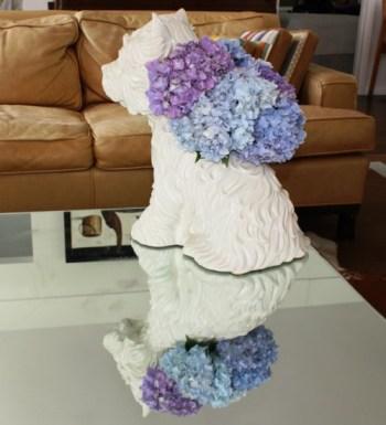 Jeff Koons Puppy Vase With Hydrangeas