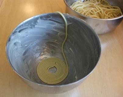 Bucatini coil
