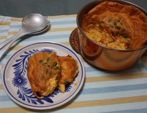 Pumpkin Souffle on plate