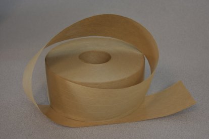 Water activated reinforced Kraft paper tape