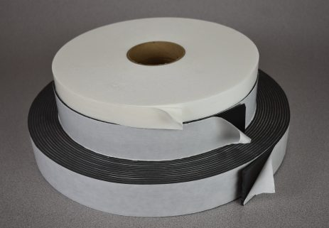 Double coated cross-linked EVA/PE co polymer – rubber based adhesive