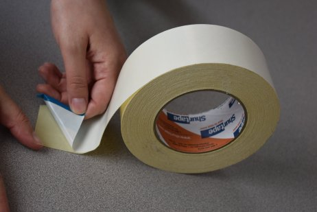 Double coated polyester – permanent acrylic adhesive on exposed side, removable acrylic on liner side