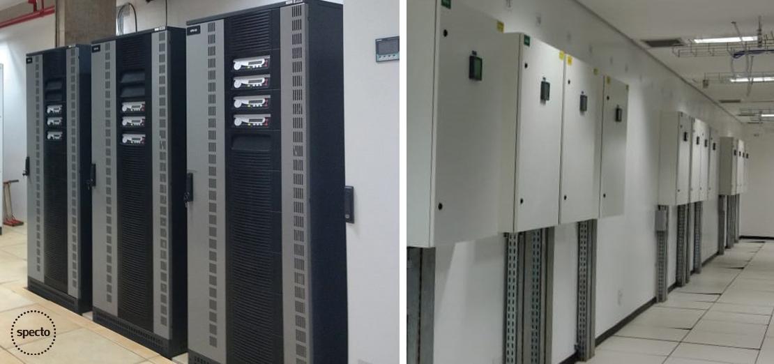 Tecnologia na sociedade - Sala de No Breaks e Quadro Elétrico.