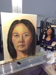 Ala Prima Portrait - Acrylic