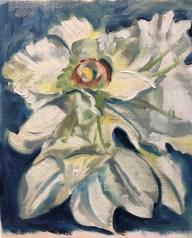 """White Orchid, oil on canvas panel, 10"""" x 8"""""""
