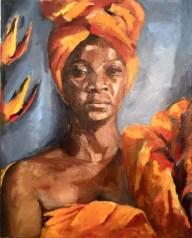 "Josianne, oil on canvas, 20"" x 16"""