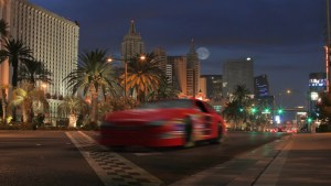 Race car on Las Vegas Strip