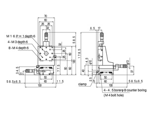 B71-60A Manual XYZ Multi Axis Crossed Roller 60x60mm