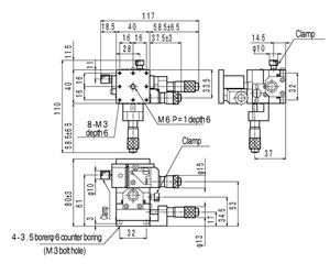 B76-40A Manual Horizontal Plane XYZ Multi Axis Crossed