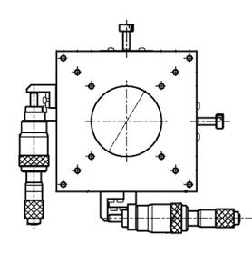 B21-120AR Manual XY Multi Axis Crossed Roller 120x120mm