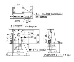 B31-60CR Manual Z Axis Crossed Roller 60x60mm Platform 6