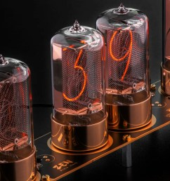 photo of a clock features modern day nixie tubes made by dalibor farny  [ 1240 x 827 Pixel ]
