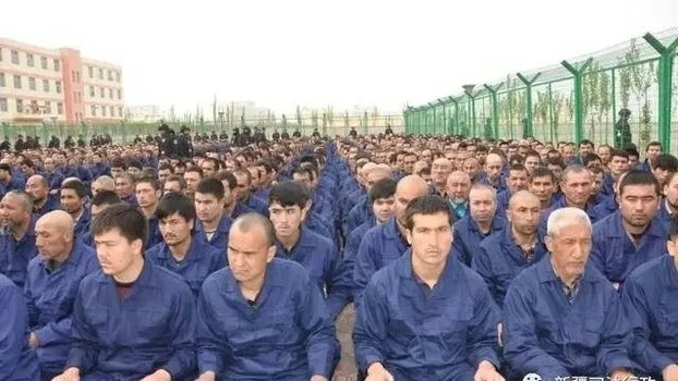 Photo posted by the Xinjiang Judicial Administration in 2017