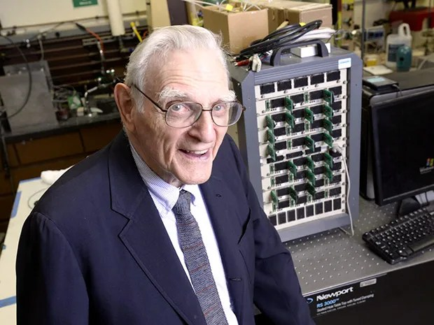 John Goodenough, co-inventor of the lithium-ion battery, heads a team of researchers developing the technology that could one day supplant it