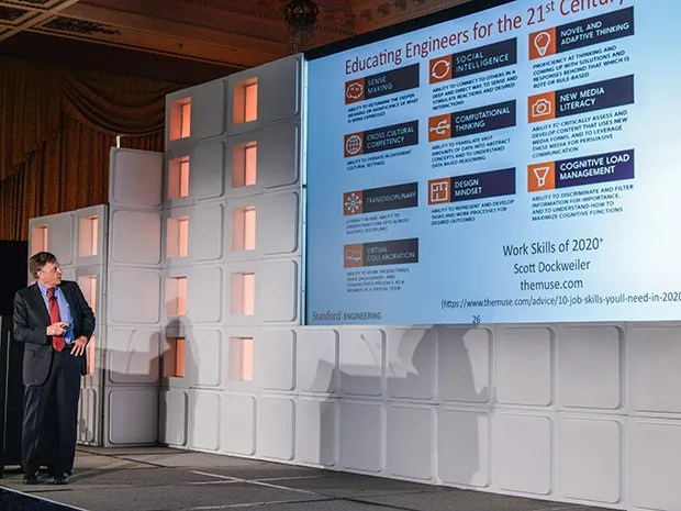 Stanford engineering professor James Plummer addresses the IEEE Vision, Innovation, and Challenges Summit in San Francisco