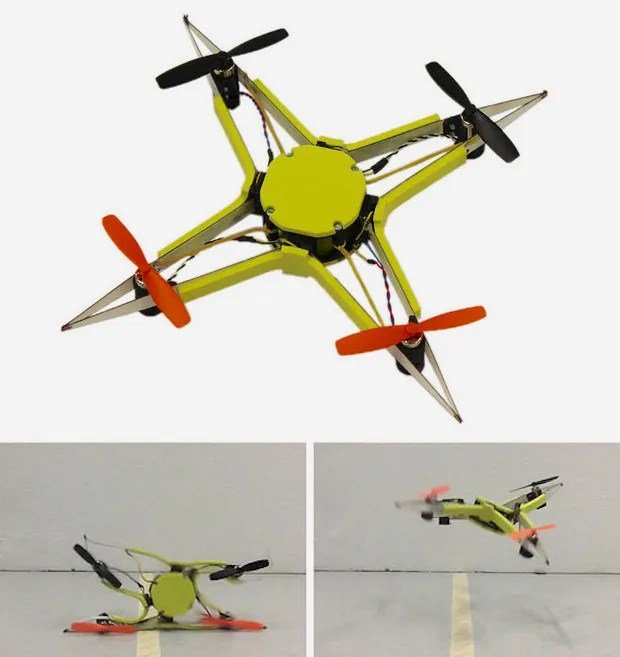 EPFL bio-inspired crashproof drone