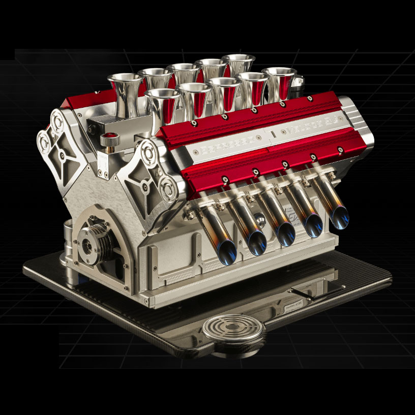 V12 engine inspired coffee machine