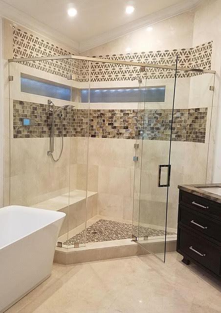 corner shower mosaic tile spectrum design