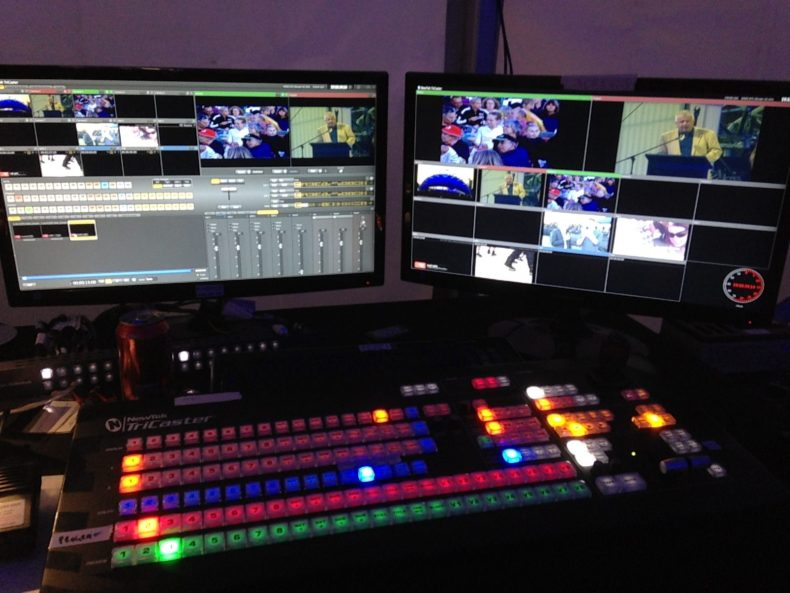 Spectrum TV Newtek Tricaster Video Mixer Hire Perth