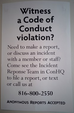 Conduct Vio Sign