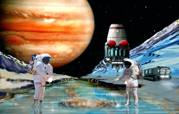Spaceart - Frozen Life Europa Science Fiction Art And