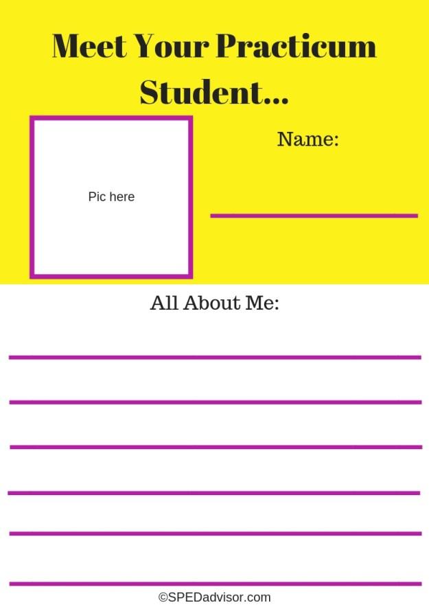 Meet your Practicum Student...