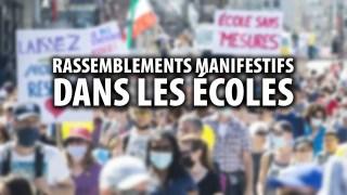 RASSEMBLEMENTS MANIFESTIFS DANS LES ÉCOLES – DELPHINE POUBLAN