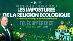 Conférence en ligne de Camille Veyres et Jérôme Halzan – Les impostures de la religion écologique