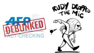 Extrait : Rudy débunke l'AFP