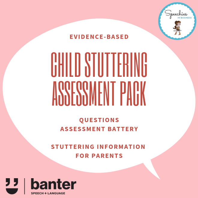 child stuttering assessment pack