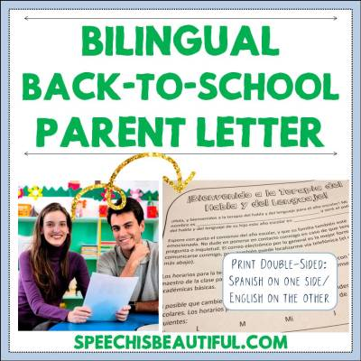 Bilingual Back-to-School Parent Letter