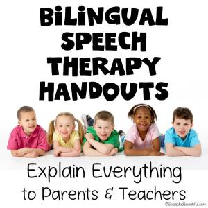Bilingual Speech Therapy Handouts