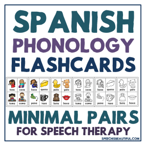 Spanish Phonology Minimal Pair Flashcards