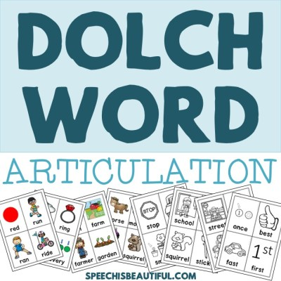 Dolch Word Lists in Speech Therapy