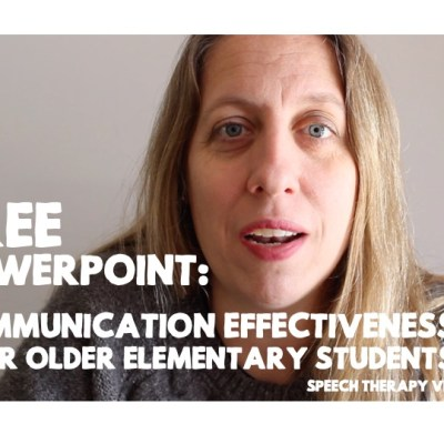 Communication Effectiveness for Older Elementary: Free PowerPoint