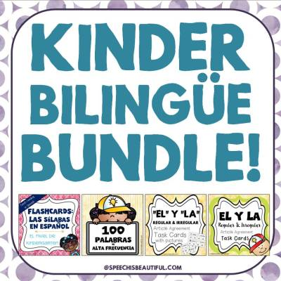 Kinder Bilingüe Bundle – Aprender a leer en español para niños