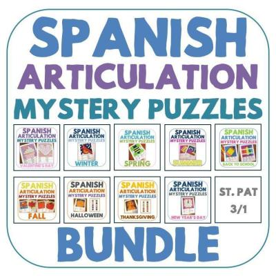 Spanish Articulation Mystery Puzzles