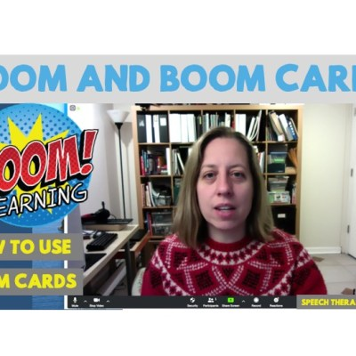 How to Zoom and Use Boom Cards in Speech Therapy