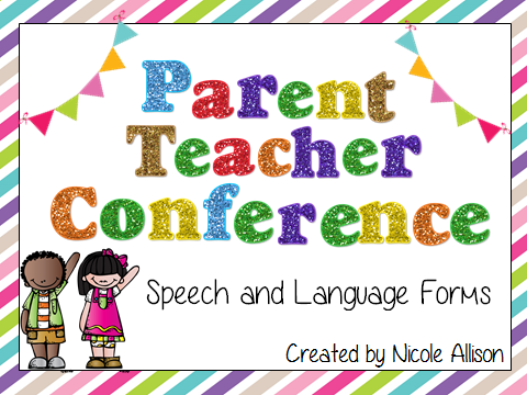 Parent teacher conference speech and language forms speech peeps i needed something this year to help me through the infamous parent teacher conferences i love getting together with my parents and the effects of altavistaventures Choice Image
