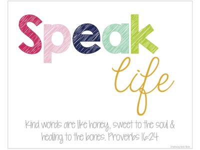 Image result for speak life