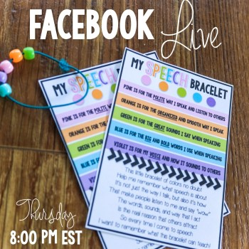 Speech Bracelet-A First Week in Speech Activity