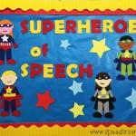 Superhero Bulletin Board Speech Room Style
