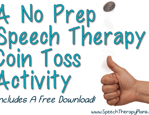 Free No Prep Speech Therapy Activity