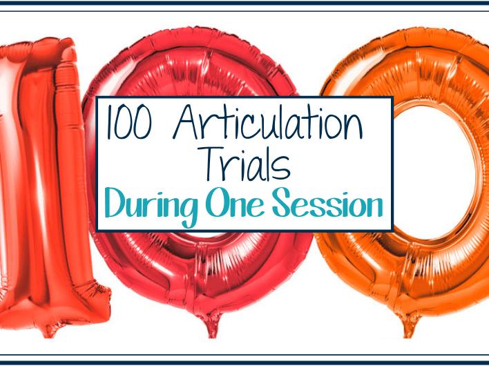 100 articulation trials
