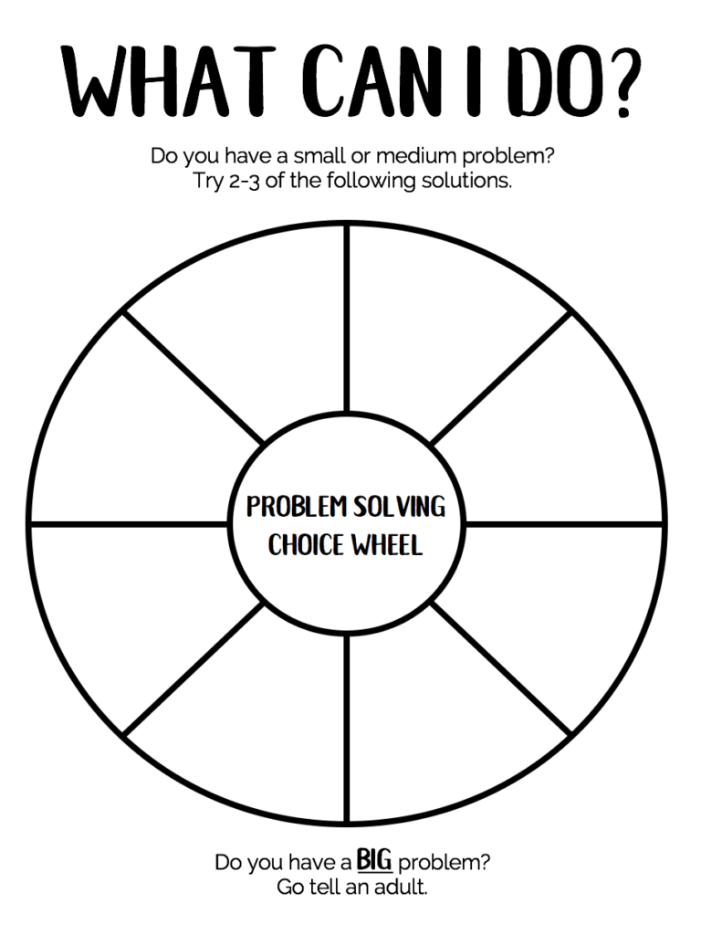 What Should I Draw Wheel : should, wheel, Problem, Solving, Wheel:, Solve, Their, Problems, Speech, Therapy, Store